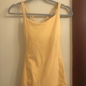 Lululemon Yellow Racerback Strappy Tank Top 6